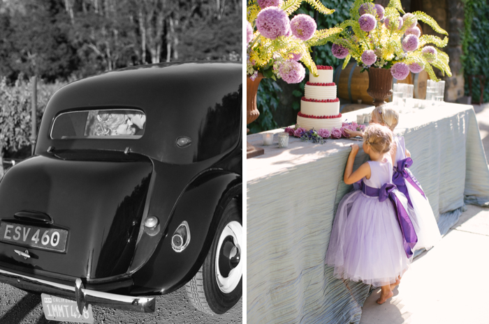 vintage car, wedding, photography, flowergirls, wedding cake, brianamariephotography